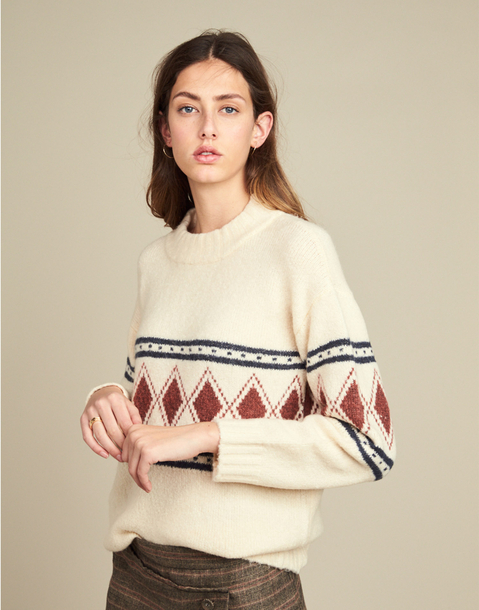 JACQUARD DIAMOND SWEATER