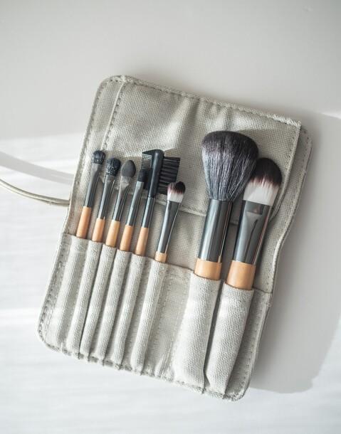 set 8 pinceles maquillaje