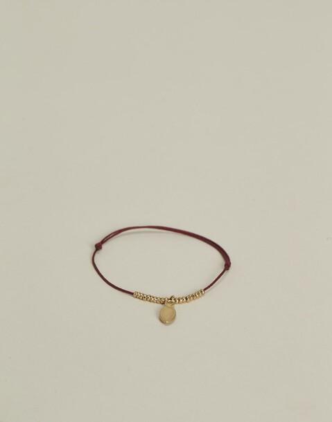 bracelet fil pendentif goutte