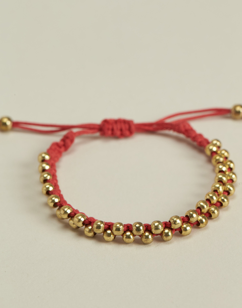 string barcelet metal beads