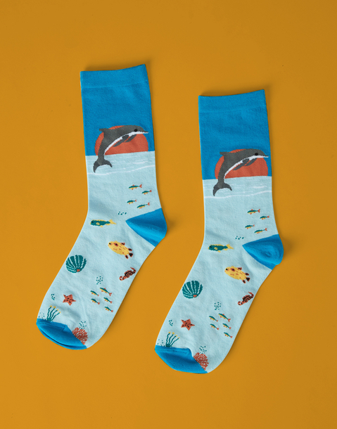 chaussettes fond marin homme
