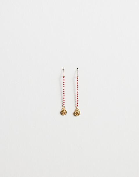 medal chain earring