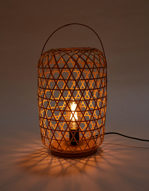 bamboo table lamp 26x26x55cm