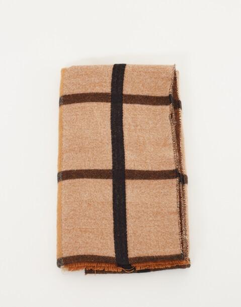 écharpe aux couleurs combinées et à petits carreaux