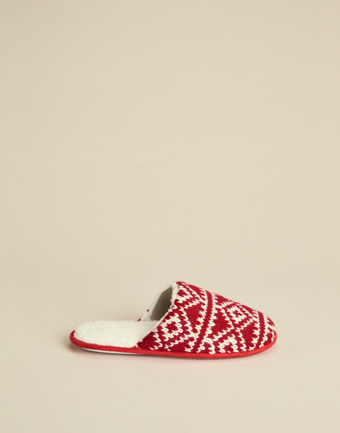 open jacquard slipper