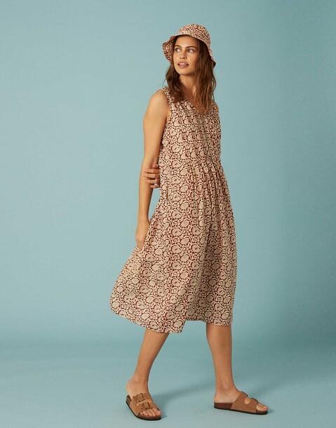 indi cotton midi dress