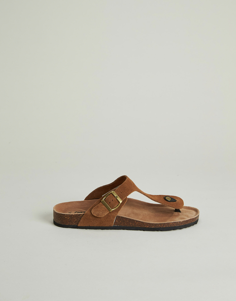 ergonomic toe leather sandal for men