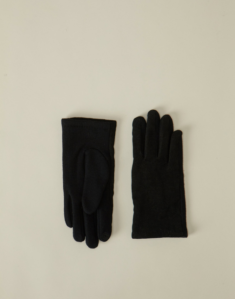 men's wool and corduroy tech glove