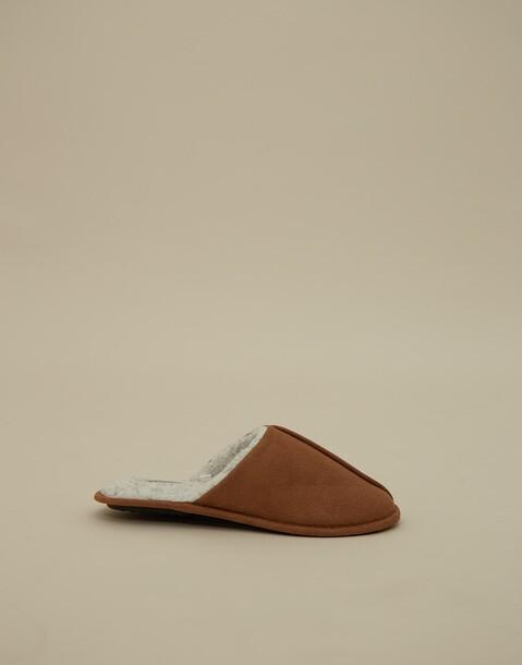 pantofole effetto camoscio uomo