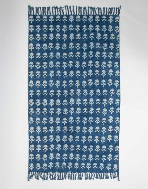 block flower rug 90*150