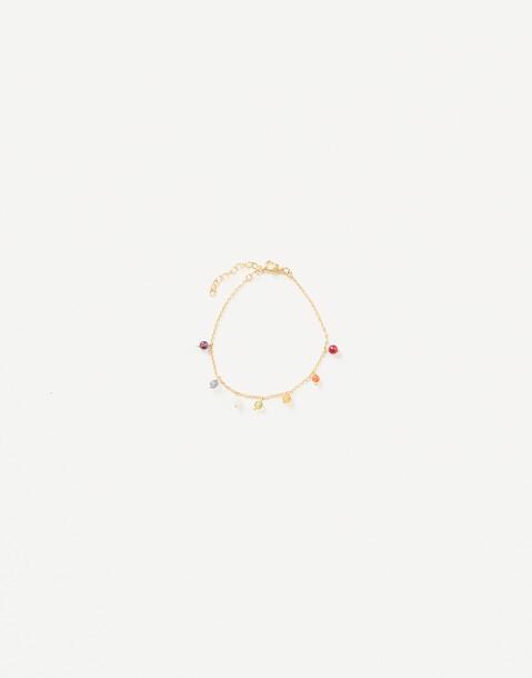 gold plated chakras bracelet