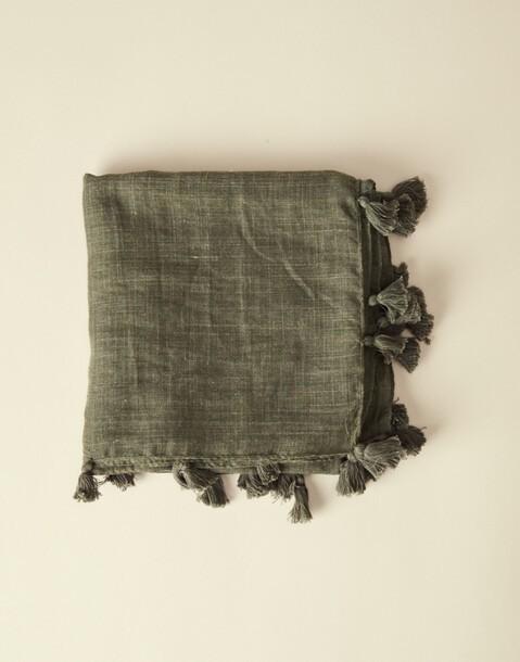 plain pompons foulard