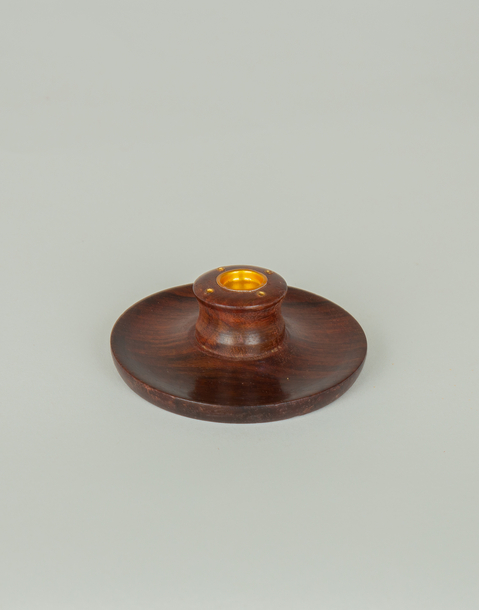 wooden censer with plate