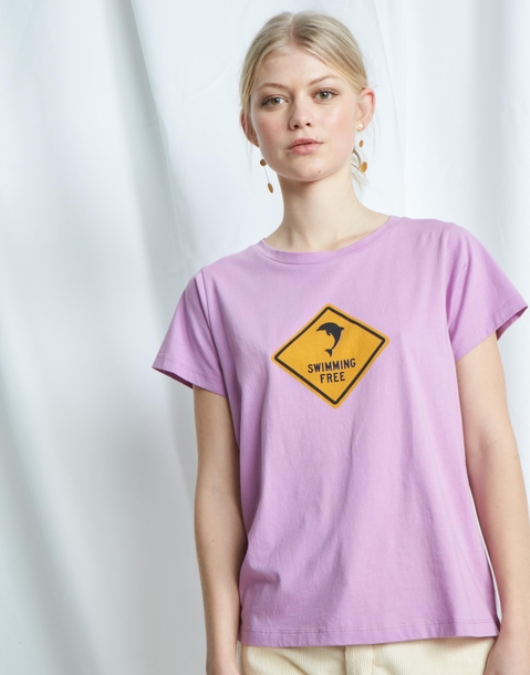 """swimming free"" organic t-shirt"