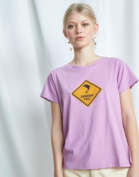 maglietta organica segnale swimming free