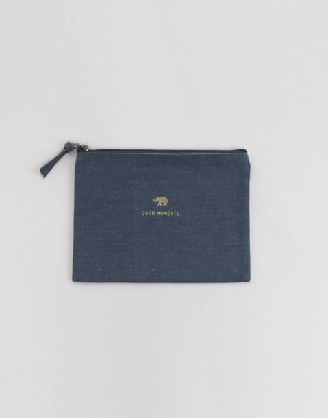 symbol stamp canvas pouch