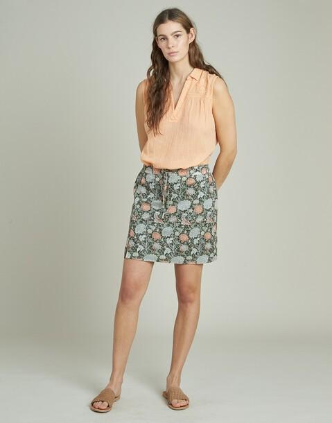 floral print short skirt