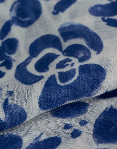 floral pattern summer scarf