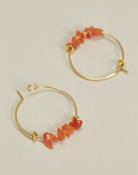 golden hoop earrings with stones