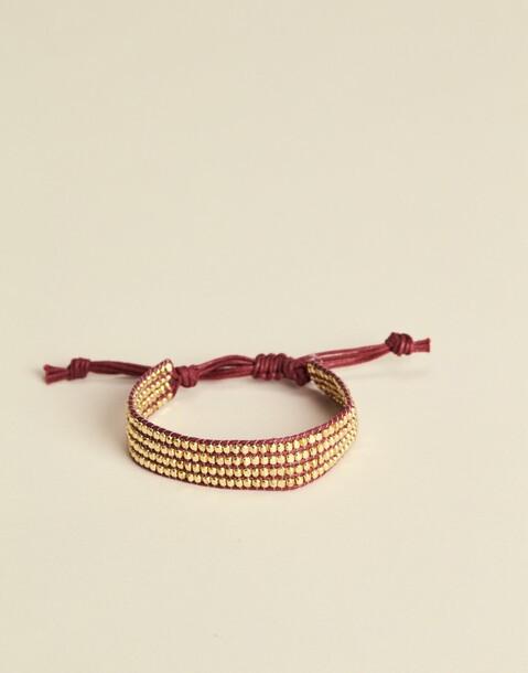 golden beads bracelet