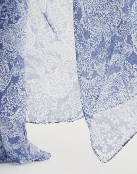 foulard imprimé abstrait bicolore