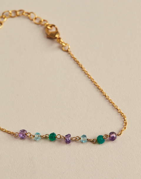 multicolor gold plated bracelet