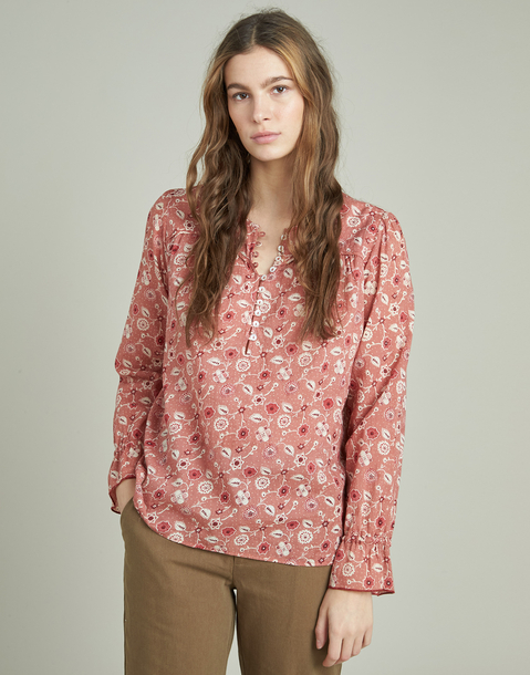 flower print long sleeve shirt