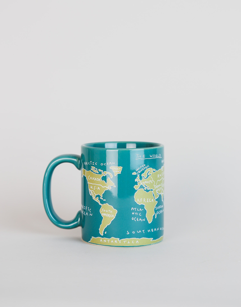 world map mug