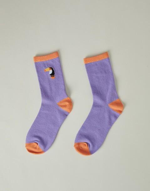 toucan woman socks