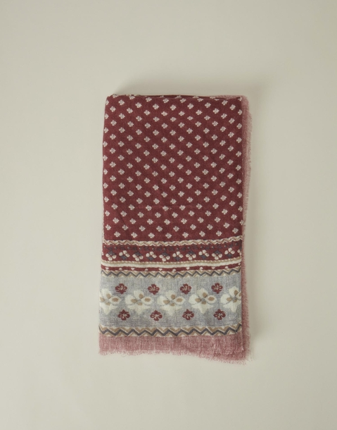 small stamp printed foulard