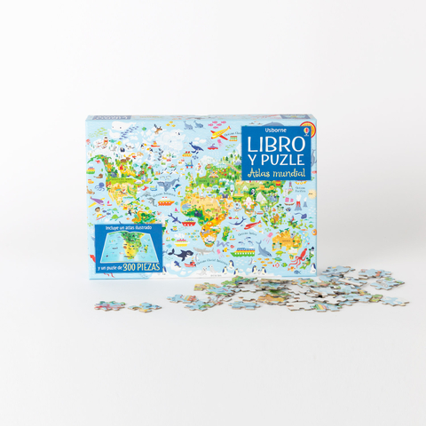 atlas book and puzzle 300 pieces