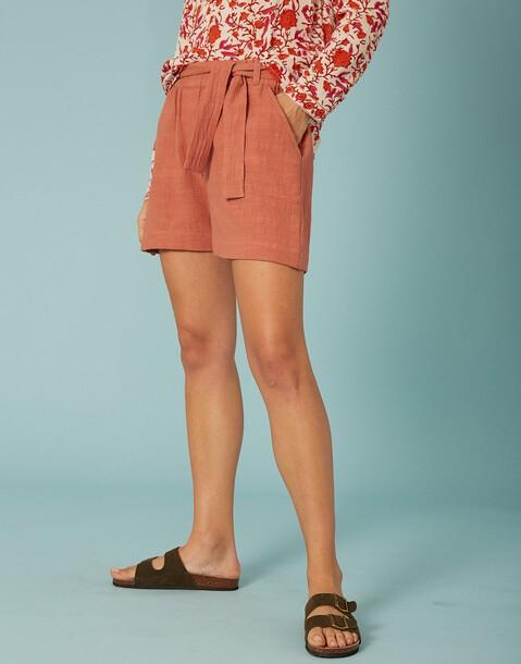 rustikale shorts mit taschen