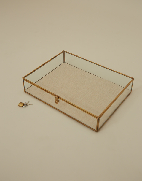 big glass jewelry box