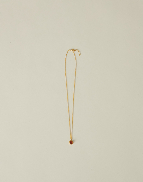 vergoldete halskette mit edelsteinblume