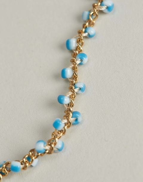 chain bracelet with bicolor beads