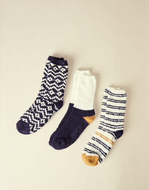 anti-sleep fleece socks 3-pack men