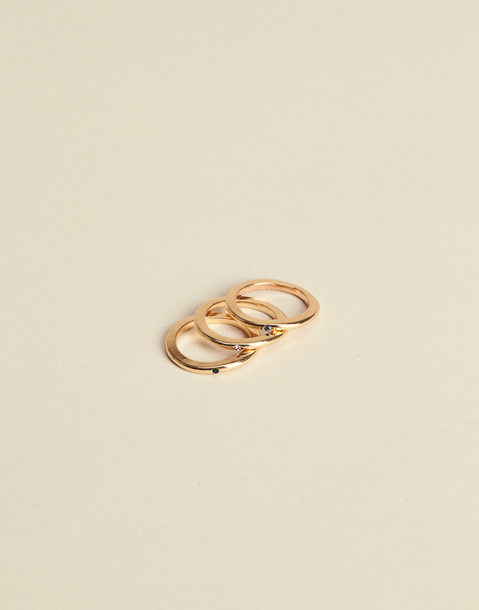 3-piece stone ring set