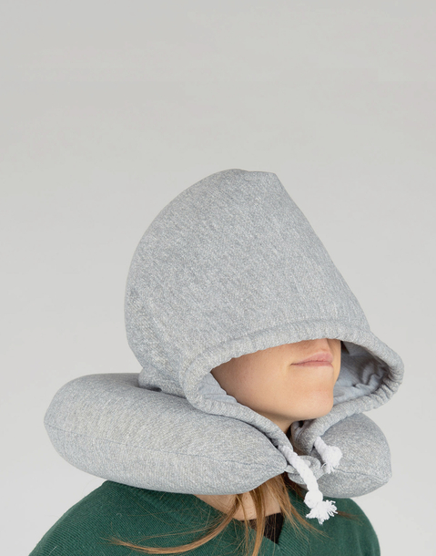 neck pillow with hood