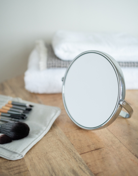 espejo pie plegable grande x5