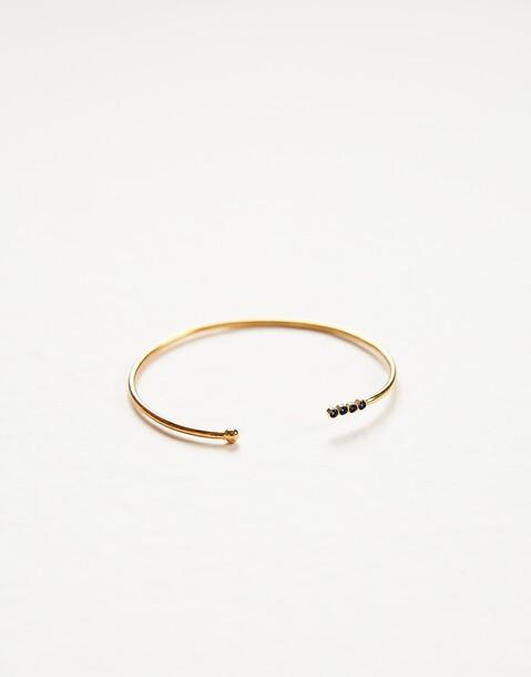 gold plated stones bracelet
