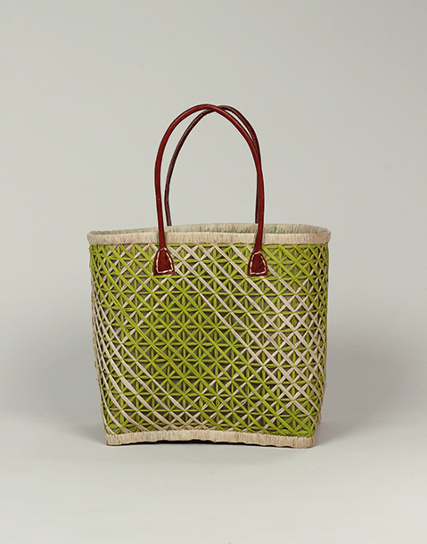 mesh effect basket bag