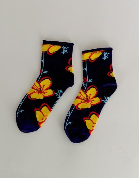 women's flowers socks