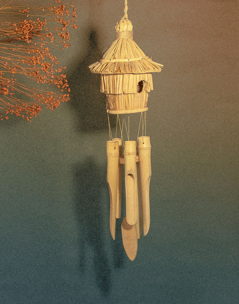 bamboo nest with wind bell