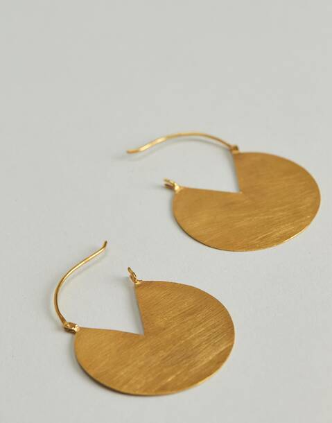 gilded circles hoop earrings