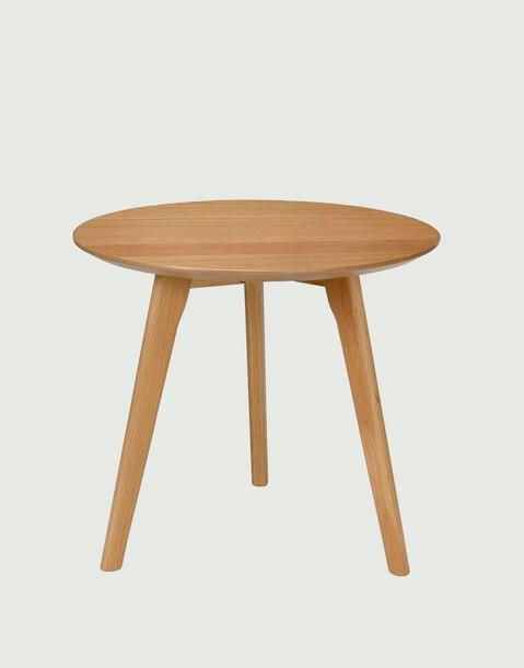 mesa redonda de roble