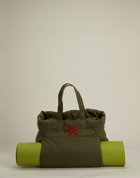 yoga bag with om embroidery