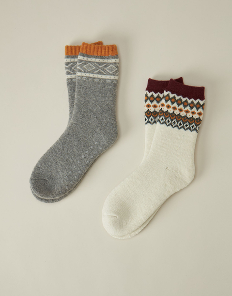 jacquard socks set of 2