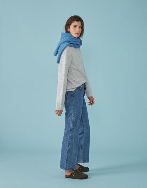 pull en tricot côtelé unisexe