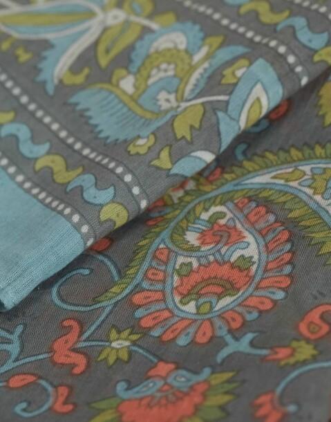 cotton paisley scarf