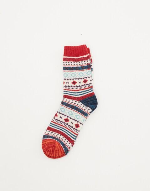 chaussettes jacquard pour hommes